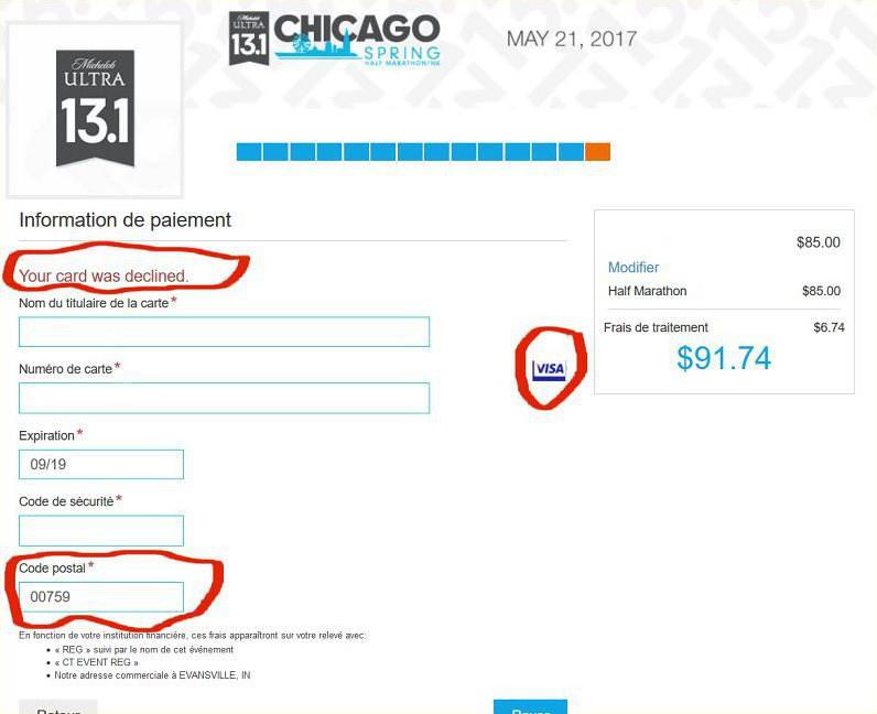code postal carte bancaire Problème de paiement sur site américain via carte Visa | Forum