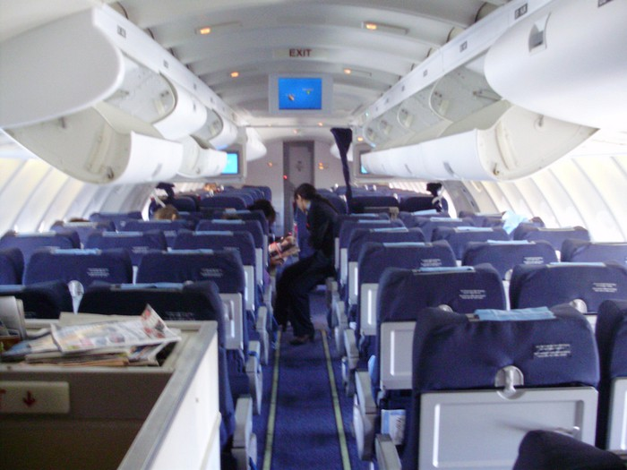 Compte rendu du vol ss882 lyon r union en classe grand for Avion 747 interieur