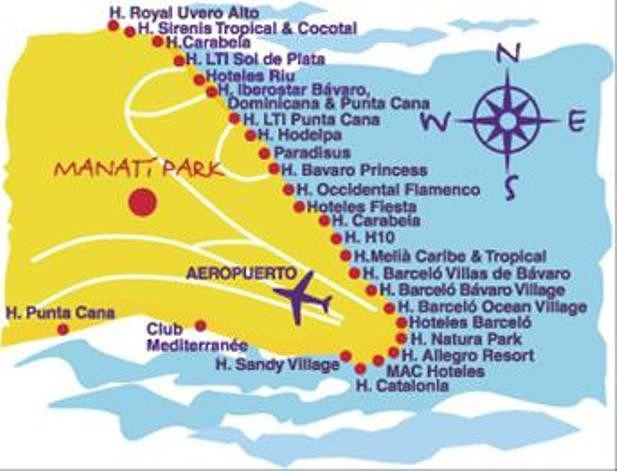 situation punta cana carte» Info » Vacances - Arts- Guides Voyages